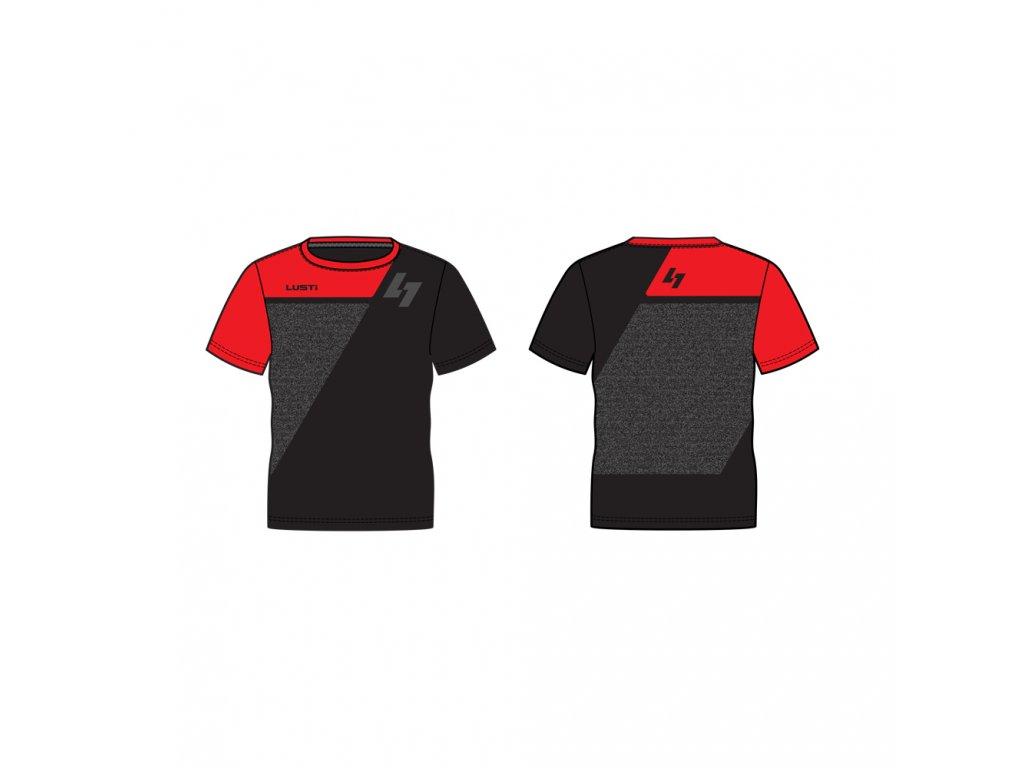 triko m red black