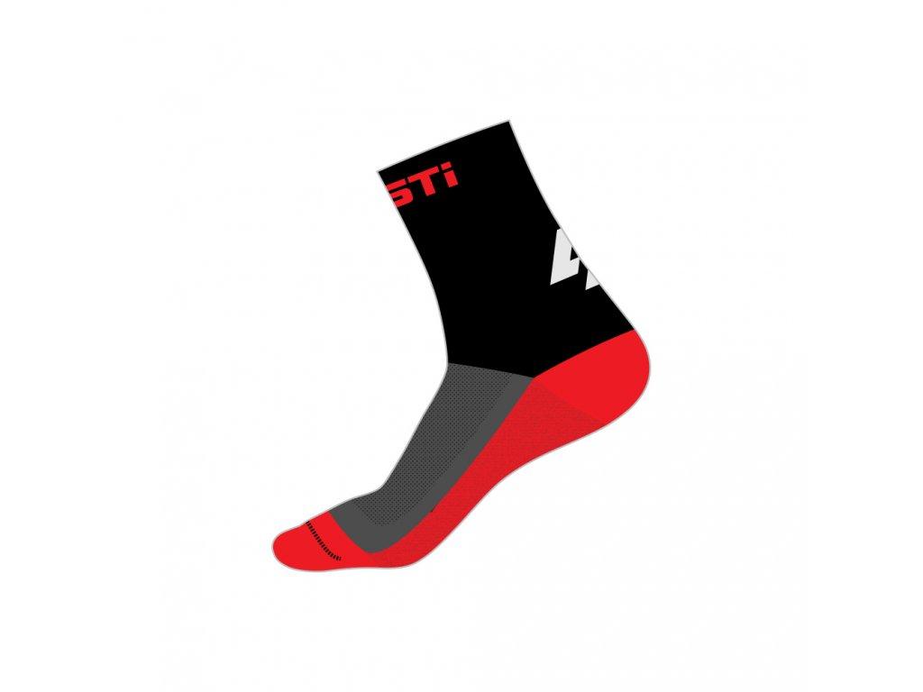 ponozky mid red